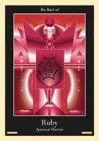 Liquid Crystal Card - Ruby