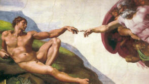 Creation in the Sistine Chapel by Michelangelo