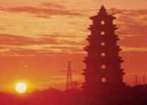 Pagoda in southern Guangxi China
