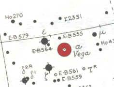 Star Map Location for Vega