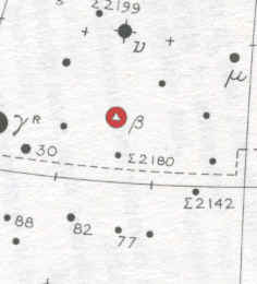 Star Map Location for Rastaban