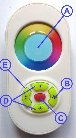 Color Therapy Lightbox Remote Control